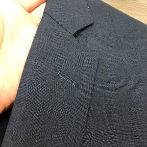 Brooks Brothers Suits & Blazers - Brooks Brothers Navy Blue Glen Plaid Suit 42L Long